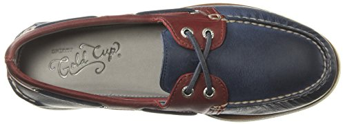 Sperry Homme Gold red red o navy Bateau eye Top sider Bleu Navy 2 A Roustabout Chaussures rvqBrgEw