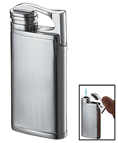 Visol Iceman Chrome Matte Torch Flame Lighter (Lighter Flame Polished Chrome Torch)