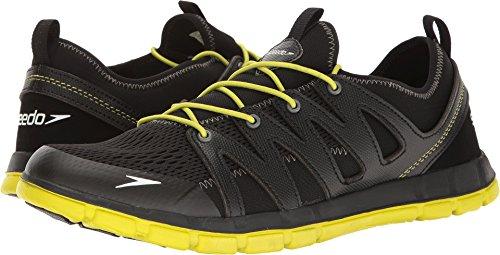 Speedo Men's The Wake Athletic Water Shoe, Black/Sulphur Spring, 7 C/D US from Speedo