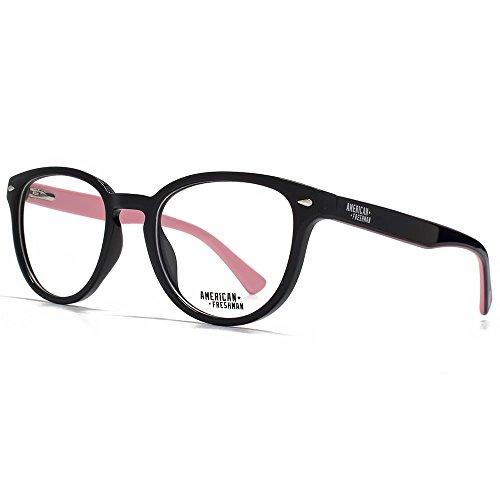 American Freshman Dakota des lunettes rondes rétro en noir AMFO009-BLK clear