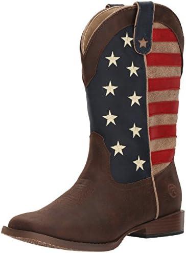 Roper Unisex-Child American Patriot Western Boot