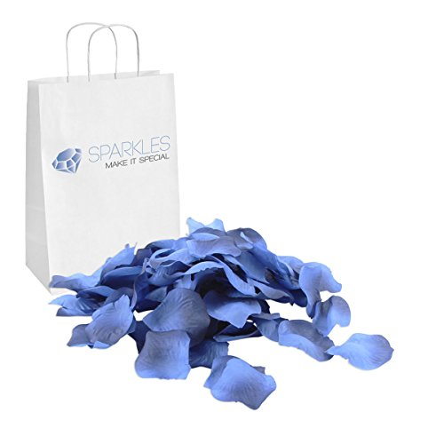 Sparkles Make It Special 900-pcs Rose Petals Faux Silk Flower - 24 Colors - Navy Blue