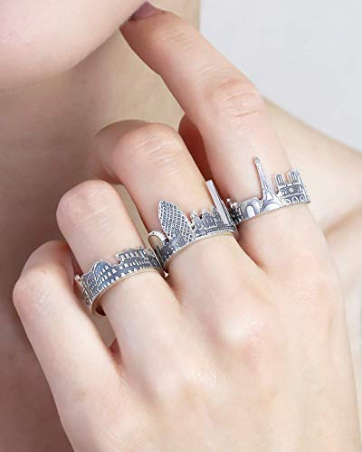 Your City Ring Any Cityscape Ring Travel Ring 925 Sterling Silver Ring State Jewelry Custom Personalized Gifts