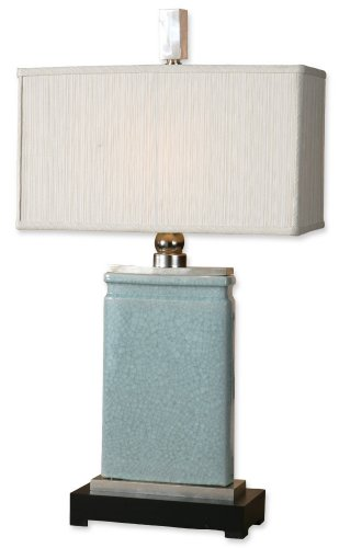 Uttermost 27752-1 32-Inch Tall Azure Table Lamp, Light Blue Crackled