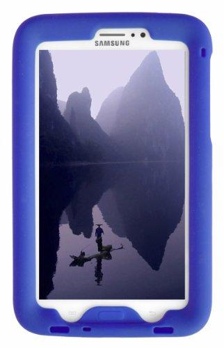 Bobj Rugged Case for Samsung Galaxy Tab 3 7-inch Tablet, Tab3 7-inch Kid's Edition. (Not for Tab3 Lite, Tab2, or Earlier Models) - BobjGear Custom Fit - Sound Amplification - (Batfish Blue)