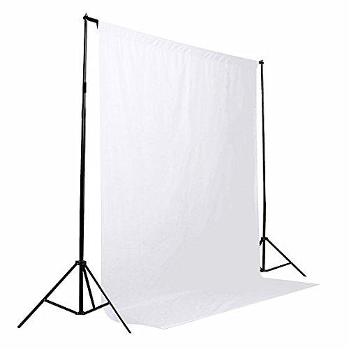 Photo Backdrop Screen - Photo Backdrop Background Screen - 5 Colors Screen/Chromakey Backdrop 6x9 Muslin Video Background - White (Photo Screen Backdrop)]()