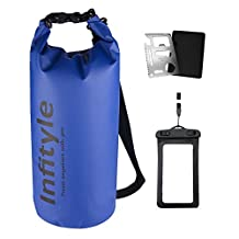 Waterproof Dry Bags - Floating Compression Stuff Sacks Gear Backpacks for Kayaking Camping - Bundled with Phone Case and Pocket Tool
