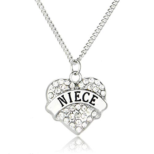 Niece Gifts Heart Pendant Necklace Niece Jewelry Graduation Birthday Christmas Gifts for Niece from Aunt Uncle