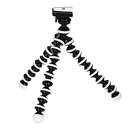 Flexible Lightweight Portable Tripod for Projector DSLR Cameras (Black&White) by Magicook
