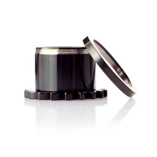 Piercing tunnel pour lobe d'oreille en acrylique noir à vis-saw wheel 1754.bK .8 mm