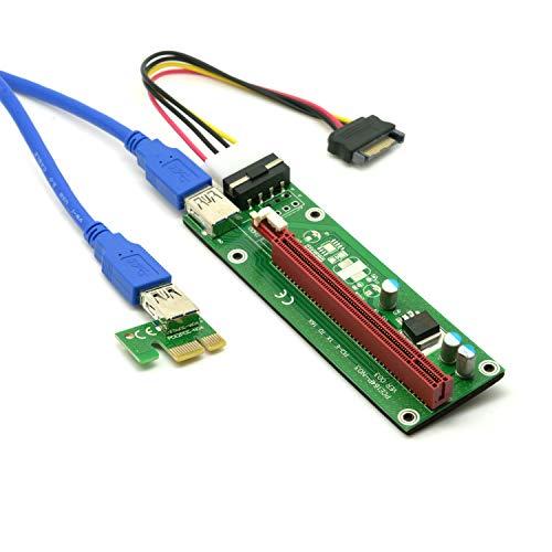 1 Pci-e Riser VER 003 Cripto mineria Con Cable SATA Cablecc