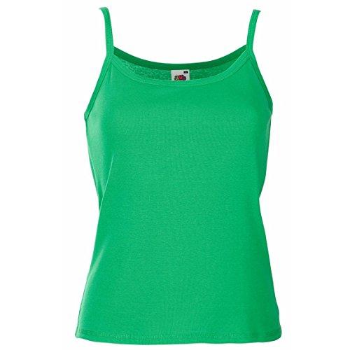 Nuevo Fruit of the Loom de mujer para senderismo autoadhesivas para-tela Lady-fit correa de fijación de la sin mangas camiseta para hombre Verde