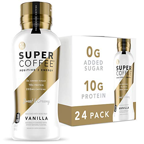 Kitu Super Coffee, Iced Keto Coffee (0g Added Sugar, 10g Protein, 70 Calories) [Vanilla] 12 Fl Oz, 24 Pack | Iced Coffee, Protein Coffee, Coffee Drinks, Smart Coffee - SoyFree GlutenFree
