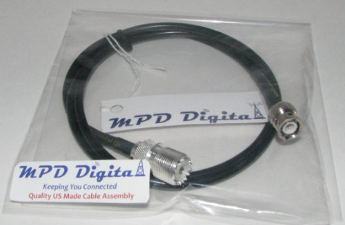 MPD Digital RF UHF VHF Radio coaxial antenna cable BNC male to (Bnc Male Component Cable)