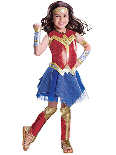 Justice League Child's Wonder Woman Deluxe Costume, (Deluxe Wonder Woman Costume)