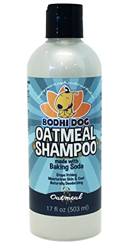 NEW All Natural Oatmeal Dog Shampoo | Hypoallergenic Conditioning Deodorizing Formula for Dogs Cats & Pet | Treatment Wash Sooth Dry Itchy Skin | Relieving Aloe Vera, Vitamins & (Naturals Deodorizing Shampoo)