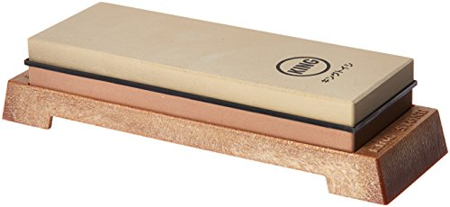 KING KW65 1000/6000 Grit Combination Whetstone with Plastic (Japanese Bench Stone)