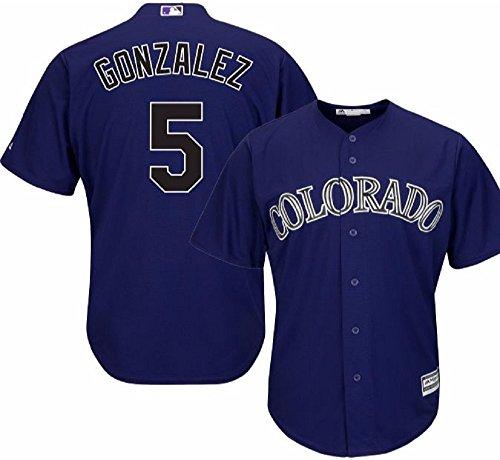 Majestic Carlos Gonzalez Colorado Rockies MLB Youth Purple Alternate Cool Base Replica Jersey (Youth Large 14-16)