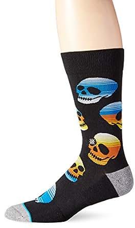Stance Men's Rayo Crew Socks (Small/Medium, Black)