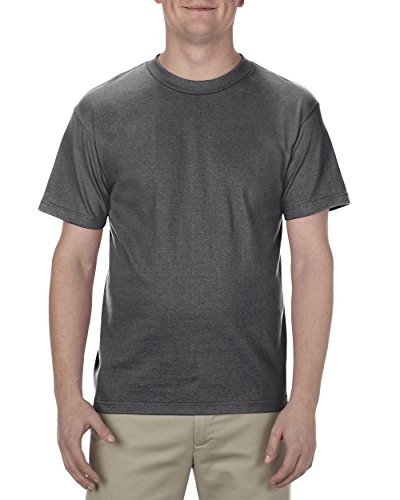 Alstyle Apparel AAA Men's Classic Cotton Short Sleeve T-shirt, Charcoal Heather, Medium