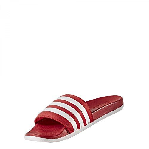 adidas Adilette Cloudfoam Ultra, Zapatos de Playa y Piscina para Hombre Rojo (Scarlet/footwear White/scarlet)