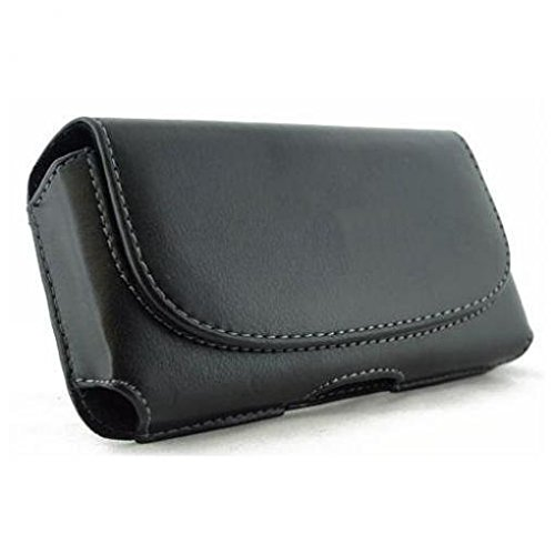 Black Leather Phone Case Cover Pouch Belt Holster Clip for AT&T HTC Tilt - AT&T Palm Treo 680 - AT&T Samsung Impression A877