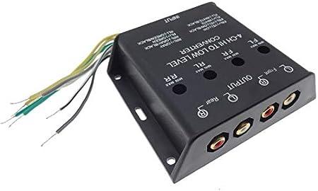 4x Kanal Verstärker Adapter Lautsprecher Rca Cinch Elektronik