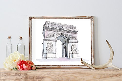 Arc Wall - Arc de Triomphe Watercolor Home Print