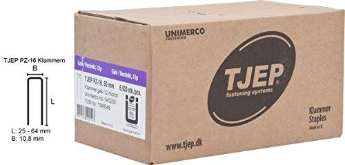 TJEP PZ-16 Klammern 50 mm, verzinkt und geharzt