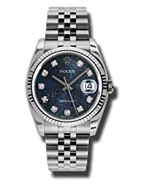 Rolex Datejust Blue Dial Automatic Stainless Steel Watch 116234BLJDJ by Rolex