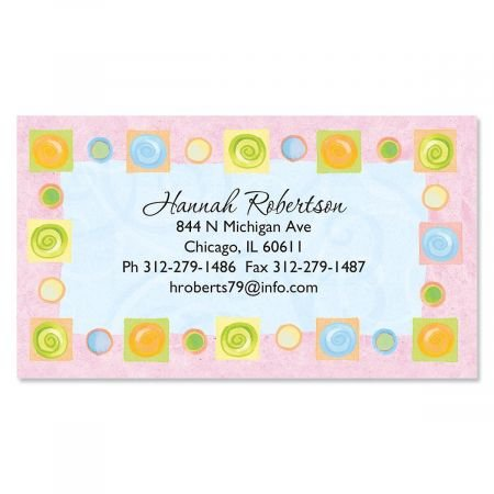 Calling Set Border Card - Border Blocks Business Cards - Set of 120 2