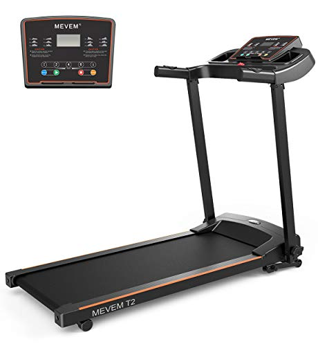 MEVEM Treadmill Electric Folding Treadmills for Home and Office-Heavy Duty Compact Motorized Running Machine with LCD Display and Cup Holder