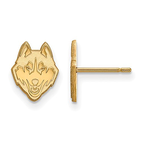 10k Yellow Gold LogoArt Official Licensed Collegiate University of Connecticut (UC) XS Post Earring by LogoArt
