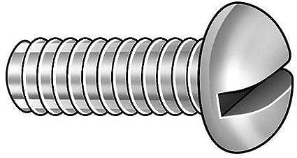 ZORO SELECT 2BA31#10-32 x 1 100 pk Round Head Slotted Machine Screw