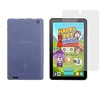 """Insignia Flex NS-P08A7100 TPU Case - iShoppingdeals Slim Fit , Anti-Slip Protective TPU Rubber Gel Cover for Insignia Flex 8"""" NS-P08A7100 Tablet 2016 Release Case and Screen Protector - Blue"""