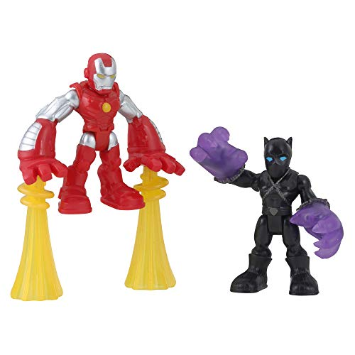 Super Hero Adventures Sha Black Panther & Iron Man
