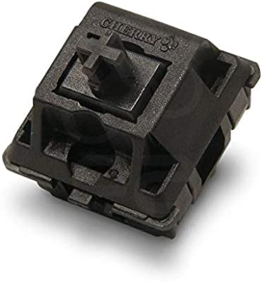 Amazon Com Cherry Mx Black Key Switches 10 Pieces Mx1ag1nn Plate Mounted Linear Switches For Mechanical Keyboard Computers Accessories