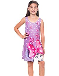 Girls Tank Dress Mickey Minnie Mouse Print Nightgown Coverup