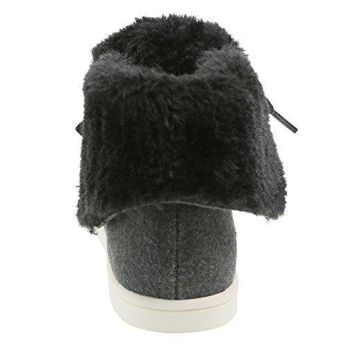 Airwalk Cozy Wool Girls' Dark High Top Molly Grey B1zrBP