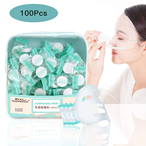 100Pcs Compressed Facial Mask Dry Sheet Mask Paper DIY Skin Care Natural Face Cotton Mask -