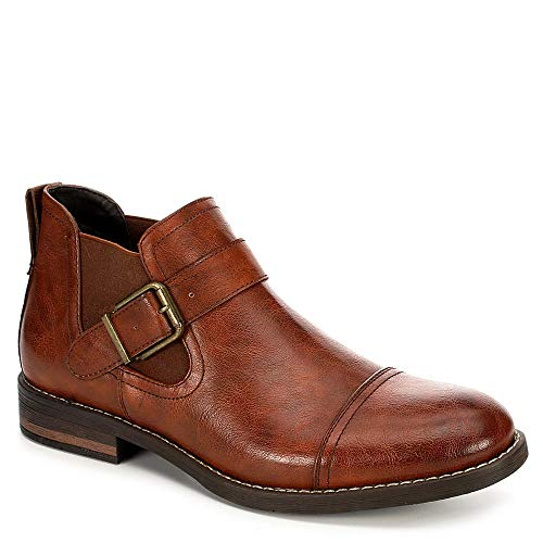 (Day Five Mens Slip On Chelsea Ankle Boot Shoes, Brown, US 12)