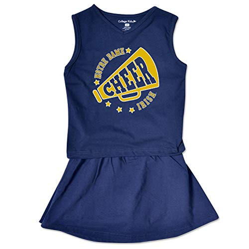 NCAA Notre Dame Fighting Irish Toddler Girl Cheer Set, 4 Toddler, Navy