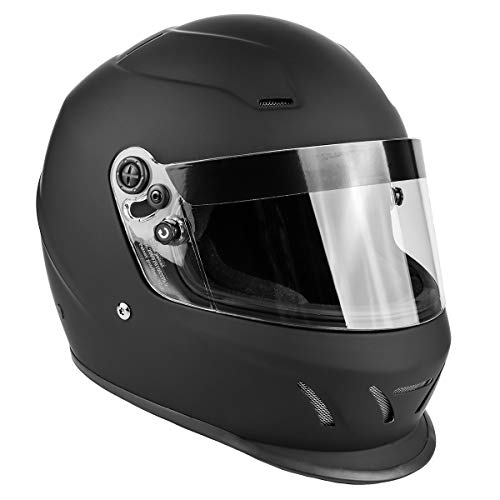 Snell SA2015 Approved Full Face Racing Helmet (Matte Black, XXL)