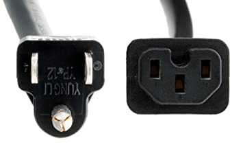 CablesAndKits Heavy Duty AC Power Cord 14 AWG NEMA 5-15P to IEC-60320-C15 8 ft 15A//125V 5-15P to C15,