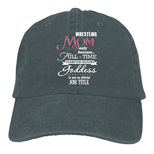 PILLO Wrestling Mom Adjustable Casual Cool Baseball Cap Retro Cowboy Hat Cotton Dyed Caps