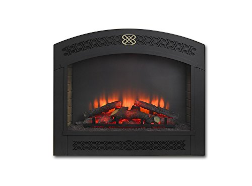 Cheap Outdoor Greatroom Company Full Arch Electric Fireplace Front for GBI-34 in Matte Black Black Friday & Cyber Monday 2019
