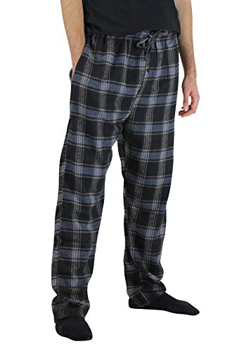 Real Essentials 3 Pack:Men's Cotton Super Soft Flannel Plaid Pajama Pants/Lounge Bottoms,Set 4-L by Real Essentials (Image #2)