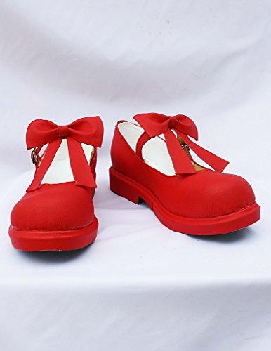 SAKURA KINOMOTO Cosplay Shoes Boots Custom Made Red 5 xHPM7