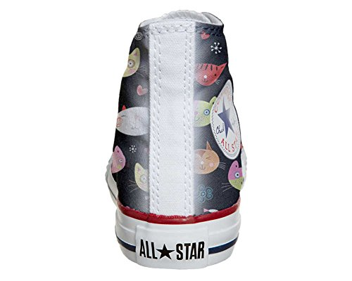Converse Customized Adulte - chaussures coutume (produit artisanal) My Little Kitten