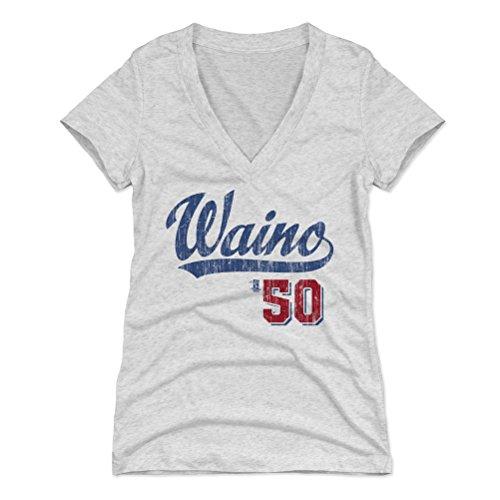 500 LEVEL Adam Wainwright Women's V-Neck Shirt X-Large Tri Ash - St. Louis Baseball Women's Apparel - Adam Wainwright Players Weekend B